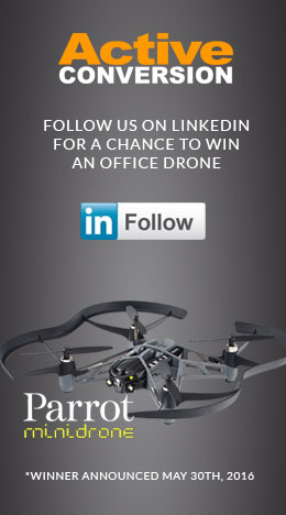 Follow us on LinkedIn for a chance to win an office drone