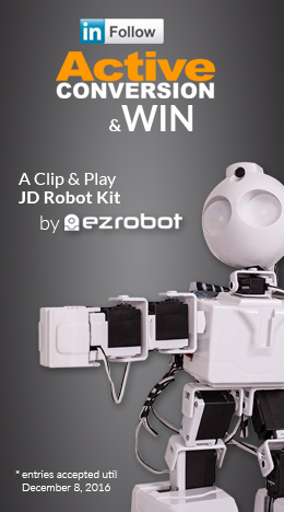 Like ActiveConversion on LinkedIn & be entered to win a JD Robot Kit